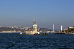 Kiz Kulesi, Maiden`s Tower, Istanbul Stock Images