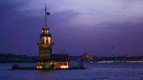 Kiz virginal kules9i Estambul de la torre del ` s Fotos de archivo