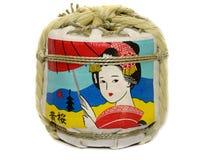 Kizakura Sake. An onate keg of Kizakura Sake, a traditional sake from Fushimi District, Kyoto, Japan Royalty Free Stock Photo