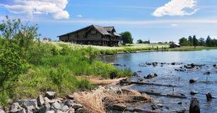kizhi острова дома деревянное Стоковое Изображение RF