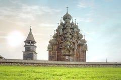 Kizhi Alte Kirche der Transfiguration Stockfotografie