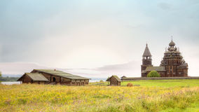 Kizhi. Ancient church of Transfiguration Royalty Free Stock Photos