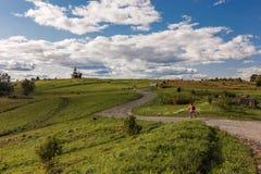 Kizhi-Insel, Petrosawodsk, Karelien, Russische Föderation - 20. August 2018: Volksarchitektur und die Geschichte des Baus O stockfotos