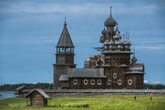 Kizhi Island, Russia. Ancient Wooden Religious Architecture Stock Photography