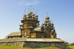 kizhi karelia острова церковного двора церков belltower preobrazhenskiy Стоковые Фотографии RF