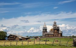 Kizhi, a museum of wooden architecture royalty free stock image