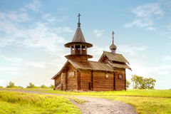 Kizhi. Old wooden church Royalty Free Stock Photos