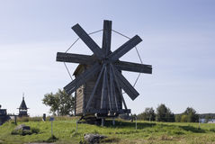 Kizhi, Russia. Windmill (1928) royalty free stock photo