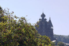 Kizhi. A silhouette of Preobrazhenskiy church Royalty Free Stock Photo