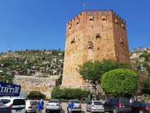 Kizil Kule, Alanya, Turquia imagem de stock