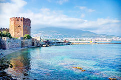 Kizil Kule - Ancient Red Tower in Alanya, Turkey Royalty Free Stock Photography
