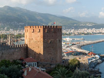 Kizil Kule or Red Tower in Alanya Stock Photo