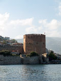 Kizil Kule or Red Tower in Alanya Royalty Free Stock Photography