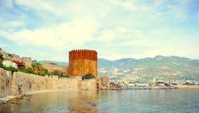 Kizil Kule, Red Tower, in Alanya, Antalya, Turkey Stock Photos