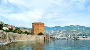 Kizil Kule, Red Tower, in Alanya, Antalya, Turkey Stock Photography