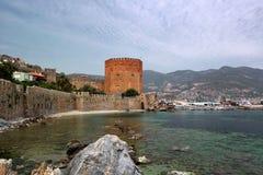 Kizil Kule or Red Tower in Alanya, Antalya, Turkey Stock Image
