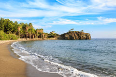 Kizilcabuk beach with palm trees in Datca, Turkey Stock Image