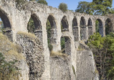 Kizilcullu (Kızılçullu) aqueduct Royalty Free Stock Photography