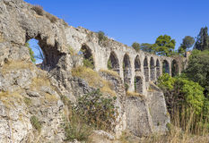 Kizilcullu (Kızılçullu) aqueduct Royalty Free Stock Photo