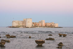Kizkalesi Maiden's Castle during Sunset Royalty Free Stock Images