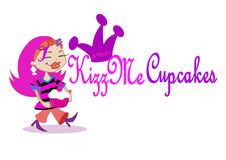 Kizz Me Cupcake & more. Commercial logo for bakery shops Royalty Free Stock Photo