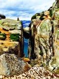 Kjæragbolten västkusten Norge Royaltyfri Foto