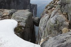 Kjerag Boulder Royalty Free Stock Photos