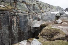 Kjerag Boulder Royalty Free Stock Photo