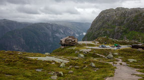 Kjerag in Forsand municipality in Rogaland county Royalty Free Stock Photos