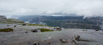 Kjerag in Forsand municipality in Rogaland county! Royalty Free Stock Images