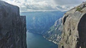 Kjerag, Noruega Imagem de Stock