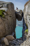Kjeragbolten (Kjerag) Royalty Free Stock Photography