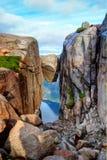 Kjeragbolten Noruega Imagem de Stock