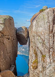 Kjeragbolten Norvège Images libres de droits