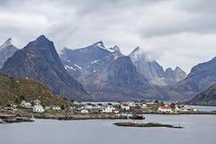 Kjerkefjorden and  Lofoten walls Royalty Free Stock Photography