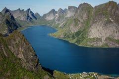 Kjerkfjorden Fotografering för Bildbyråer