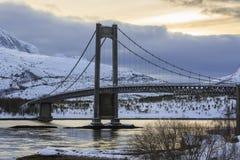 Kjerringvikstraumen bridge Royalty Free Stock Photo
