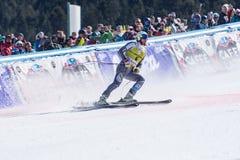 KJETIL JANSRUD NEM participa na corrida para a raça SUPER de G o MENÂ dos FINAIS do MUNDO do ESQUI do FIS Ski World Cup Finals al imagens de stock royalty free