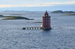 Kjeungskjær lighthouse, Norway Royalty Free Stock Photo