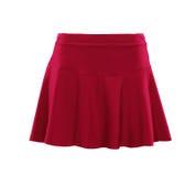 Kjol för röd färg som isoleras på vit bakgrund arkivbild