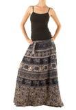 Kjol med den orientaliska prydnaden Royaltyfria Bilder
