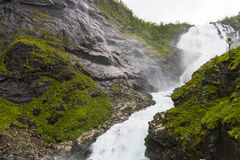 Kjosfossen - cachoeira famosa Foto de Stock Royalty Free
