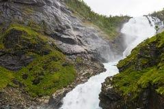 Kjosfossen - cascata famosa Fotografia Stock Libera da Diritti