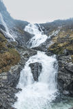 Kjosfossen vattenfall, Norge Royaltyfria Bilder