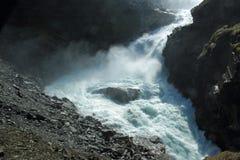 Kjosfossen waterfall Stock Images