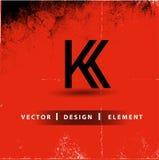 KK-bokstav Logo Design Arkivfoton
