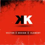 KK brief Modern Logo Design Business Concept Stock Foto