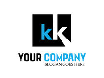 Kk Logo Design Vector moderno della lettera Immagini Stock