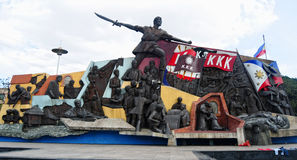 KKK monument at downtown in Manila, Philippines.  Royalty Free Stock Photos