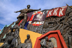 KKK-monument i Manila, Filippinerna Arkivbild